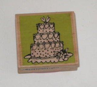 Vap Scrap Wedding Cake Stamp with Wood Base by Vap! Scrap