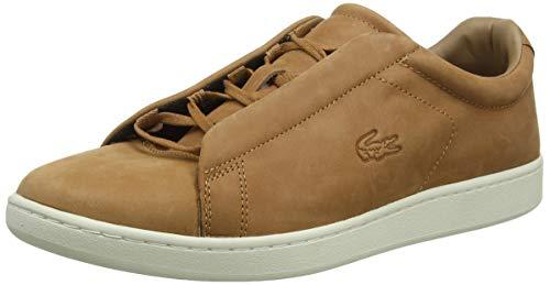 Lacoste Herren Carnaby Evo Easy 319 1 SMA Sneaker, Braun (Brown/Off White 2c3), 43 EU