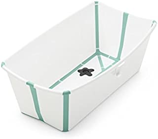 Stokke Flexi Bath Bundle with Newborn Support, White Aqua