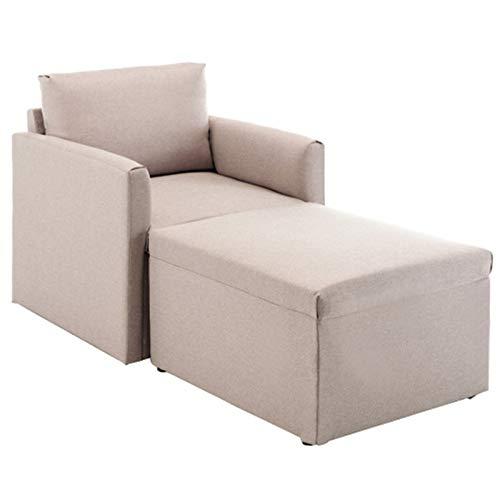 Sofa 1 Sitzer, Couch mit Bezug aus Leinenimitat, Beliebige Kombination von Sofa, Polstermöbel für kleine Wohnungen, Gästezimmer, Jugendzimmer, mit Holzgestell, einfacher Aufbau(A)