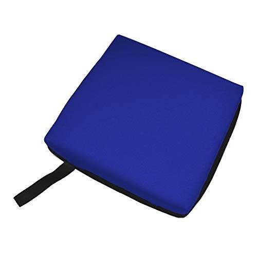 Leezo - Cojín para asiento de estadio, portátil, silla de ruedas, suave al aire libre, cojín para camping, senderismo, oficina, picnic en casa, azul