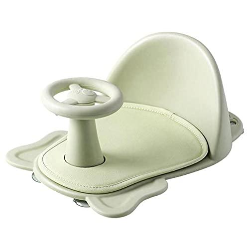 Urisgo Bañera para bebés Drenaje Silla de Asiento de baño Infantil Antideslizante Suave Silla de baño ultraconfort Soporte de Respaldo Ventosas