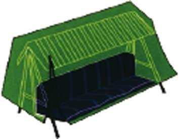 Viridex COPERTURE per DONDOLI Telo Protezione Impermeabile Colore Verde CM.240X135XH200 cod.2612936