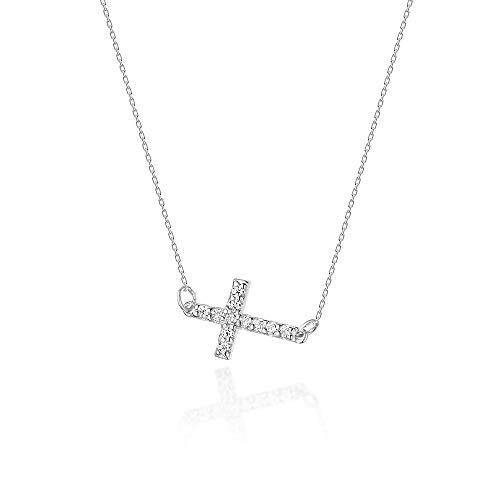 Collar de diamantes o cadena de oro para mujer Zlocisto Muestra585 , con diamantes talla brillante 0,06ct H/Si