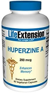 Life Extension Huperzine A 200 Mg Vegetarian Capsules, 60 Count