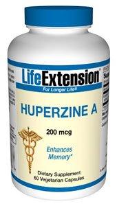 Life Extension 200mcg Huperzine A 60 Vegetarian Capsules