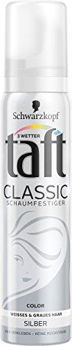 Schwarzkopf 3 Wetter taft Schaumfestiger COLOR Classic Silber extra starker Halt 3, 5er Pack (5 x 100 ml)