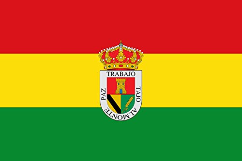 magFlags Bandera Large Municipio de Torrejón el Rubio; en Cáceres | Bandera Paisaje | 1.35m² | 90x150cm