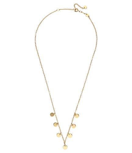 SIX Wunderschöne Kette vergoldet mit glänzenden Metallplättchen Versehen, Trend-Farbe Gold, perfekt für den Layering-Look (526-866)