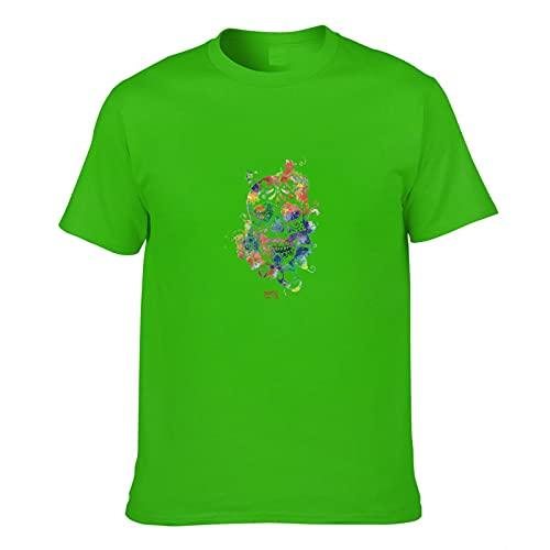 Color Skull Camiseta de los hombres de la impresión 3D de manga corta de la moda casual camisetas
