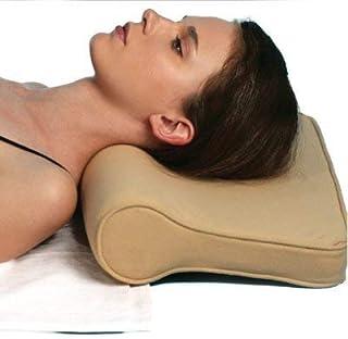 AKB EXPORTS Cervical Pillow Spondylosis Neck & Back Pain Support - Universal For Senior Citizen Men Women (Beige)