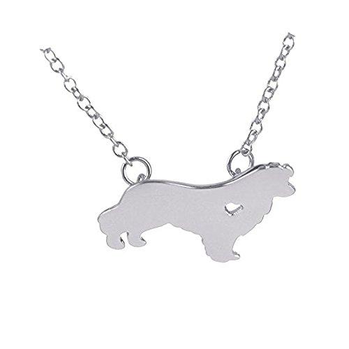 Fashion Hund Tier Anhänger Schäferhund Halskette Hund Groomer Anhänger Puppy Herz Lover Memorial Pet