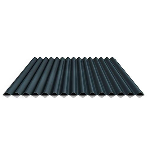 Wellblech | Profilblech | Wandblech | Profil PS18/1064CW | Material Stahl | Stärke 0,40 mm | Beschichtung 25 µm | Farbe Anthrazitgrau