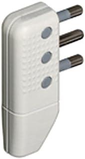 BTicino Spina Corner to Team Space-Saving 2P + T, 10A, Swivel Plugs, White, white, 250 voltsV