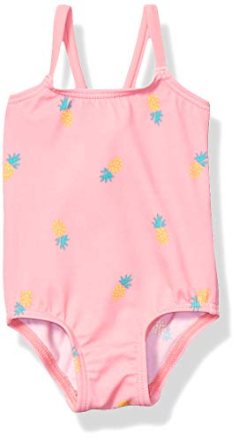 Amazon Essentials Baby Girl's One-Piece Swimsuit, Pink Pineapple, 24M