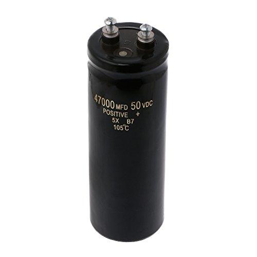 50V 47000UF/MFD Aluminum Screw Audio Filtering Electrolytic Capacitor...