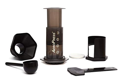 AeroPress Coffee and Espresso Maker - Makes 1-3 Cups of Delicious Coffee without Bitterness per Press