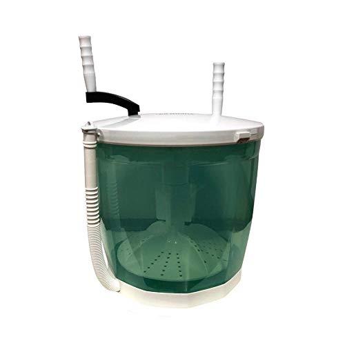 Huakaimaoyi Tragbare Manuelle Waschmaschine Handkurbel-Mini-Waschmaschine, 2-in-1-mini-waschmaschine Und Schleudertrockner Doppelwaschzyklen Kompaktes Design Umweltschutz-Grün