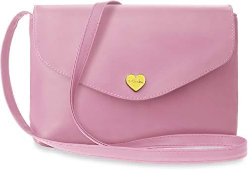 Unbekannt Schlichte modische Schultertasche Damentasche Herz puderrosa