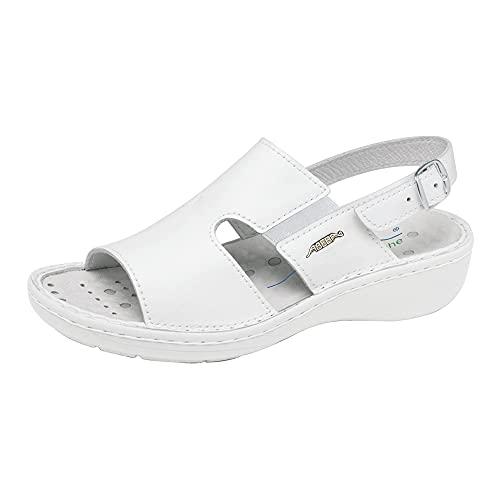 ABEBA Spezialschuh-Ausstatter GmbH Abeba Sandale 6874 - Reflexor Comfort Glattleder weiß, zertifiziert, 40