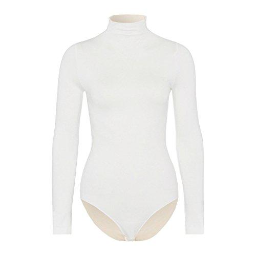 Falke Rich Cotton Body, Blanco Sucio (Ivory 2179), XS 34-36 para Mujer