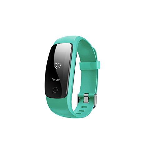 Toksum Boost 2+  attività Fitness Tracker Smart Wristband | indossabile contapassi Orologio Bracciale con Sonno, cardiofrequenzimetro e GPS | per Bambini, Uomini e Donne | per iPhone e Android