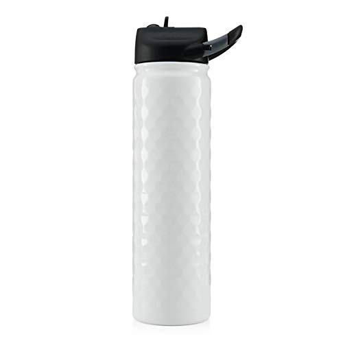 Seriously Ice Cold SIC 27 Oz. Triple Layer Vacuum Insulated 18/8 Stainless Steel Water Bottle Thermos | Powder Coated with Wide Mouth Lid and Integrated Carabiner | Sports, Outdoors, College