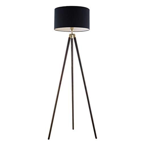 Lámpara de pie Lámpara de pie Americana de Madera Maciza Sala de Estar Sofá Creativo Moderno Simple Lámpara de pie Triángulo Lámpara de Mesa Vertical Lámpara de pie