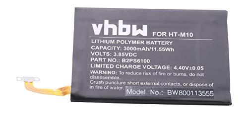 vhbw Li-Polymer Akku 3000mAh (3.85V) für Handy Smartphone Handy HTC One M10, One M10h, One M10U wie B2PS6100, 35H00256-00.