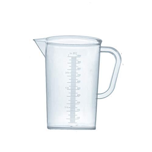 Bécher gradué en plastique avec poignées, gobelet doseur 1000 ml
