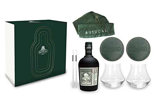Botucal Geschenkset Reserva Exclusiva Rum 0,70l (40{41b755ba452ca9d6145c683cb5298d0a1b21cf4c3393bb96f262605c4314ba63} Vol) mit 2 Botucal Tumbler Gläser + 2x Untersetzer + 2 Glashalme und einem Golfhandtuch Ron de Venezuela Set- [Enthält Sulfite]