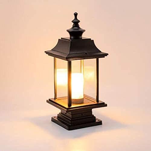 ZLMAY Lámpara de Poste de luz de Poste LED de luz fundida al Aire Libre Lámpara de Viento Impermeable Luces de Columna de Valla Luces de Patio de jardín Villa Luces de Muelle de Paisaje