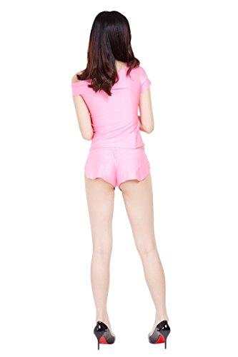 ツルツルニット ゆったりさが可愛すぎる ショートパンツ ホットパンツ 特大サイズ, ピンク