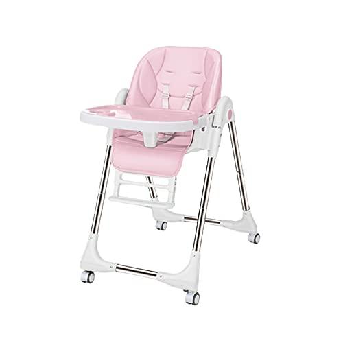 WYYUE Plegable y Ajustable Trona para Bebés - High Chair Reclinable Cojín...