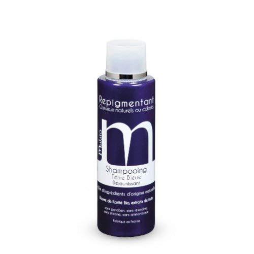 """Mulato–Repigmentierungs-Shampoo, gegen Gelbstich, """"terre bleue"""", blond –Fassungsvermögen: 200ml"""