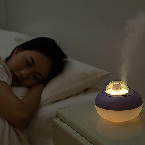 JIESEN Luz nocturna para niños, humidificador, lámpara de noche para bebés, lámpara táctil con interruptor táctil para habitación de bebé, dormitorio, sala de estar, camping