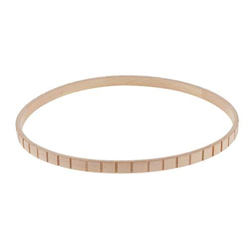 Hellery Holz Rundwebrahmen, Hand Weben Strickmaschine Weberei für Kinder ab 6 Jahren und Erwachsene - 285 x 285 mm