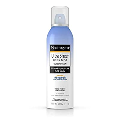 Neutrogena, Ultra Sheer Sunblock Body Mist Spray, SPF 100+, 5 oz