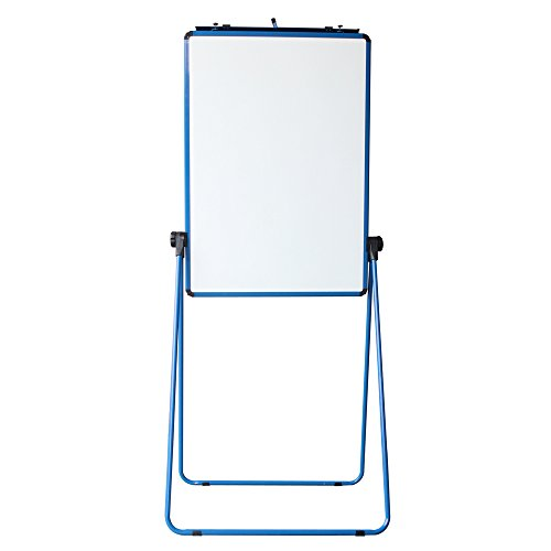 VIZ-PRO ECO Magnetic U-Stand Whiteboard/Flipchart Easel, 28 X 36 Inches, Blue