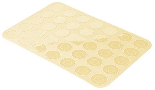 Zenker Macarons-Backmatte Patisserie, Perfekt für kleine Kekse und Coockies, Silikon-Backform (Farbe: Creme), Menge: 1 Stück