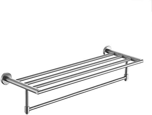 JYV El Acero Inoxidable Plataforma de baño Estante de Toalla Doble, toallero, Colgante de Hardware de baño, Rack.Baño Carrito de la Ducha Colgante