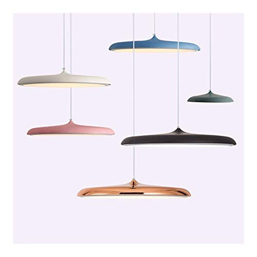 Muy bonita lámpara moderna para sala de estar Arte decorativo OVNI luces colgantes creativa MACARON nórdico lámparas de acrílico for la sala de café restaurante de cocina lámpara colgante de aluminio
