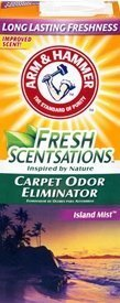 best carpet deodorizer for odors, pic of arm and hammer box