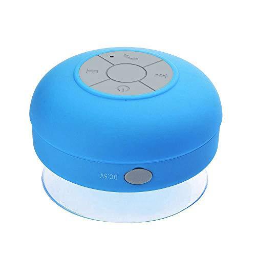OPAKY Subwoofer portátil Ducha Impermeable Manos Libres Bluetooth Altavoz para iPhone, Samsung, etc. Azul