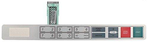 Horeca-Select Folientastatur für Mikrowelle 18 Tasten Länge 386mm Breite 42mm