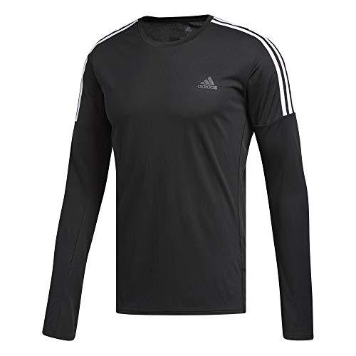 adidas Run 3S LS M Camiseta de Manga Larga, Hombre, Black/White, L