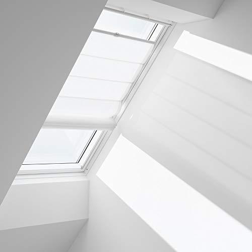 Orignal VELUX Raffrollo FHB SK06 6500 / Bedienart : Manuell / Farbe : Uni Weiß / Fenstergröße : SK06 / Fenstertypen : GGU, GGL, GPU, GPL, GTU, GTL, GXU, GXL _13390