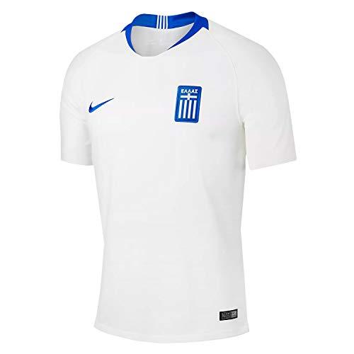 Nike Herren Greece Stadium Home SS Trikot, White/Hyper Cobalt, L