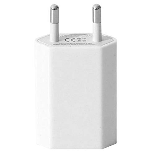 Easyeeasy Cargador de pared USB Adaptador de cargador práctico y duradero 5V 1A Puerto USB único Cubo de enchufe de cargador rápido para iPhone