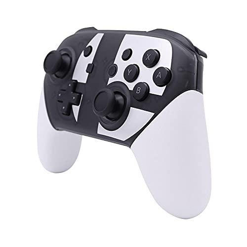 Juego de manija Interruptor Pro Inalámbrico Bluetooth Game Manija Cinturón Vibración NFC Función de Huevo-Blanco